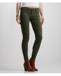 Aéropostale | Green Color Wash Cargo Jegging | Lyst