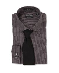 Kenneth Cole - Black Maverick Scratch Print Shirt for Men - Lyst