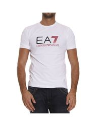 EA7 | White T-shirt for Men | Lyst