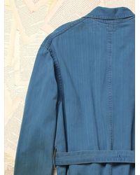 Free People - Blue Womens Vintage Herringbone Duster Co - Lyst