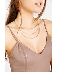 Urban Outfitters - Metallic Open Geo Collar Necklace - Lyst