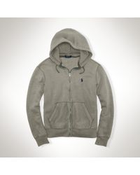 Polo Ralph Lauren | Gray Fleece Full-zip Hoodie for Men | Lyst