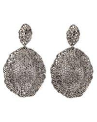 Aurelie Bidermann | Black Vintage Lace Earrings | Lyst