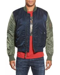 Ben Sherman | Blue 'alpha X Ma-1' Bomber Jacket for Men | Lyst