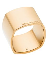 Michael Kors | Metallic Etched Logo Band Ring | Lyst