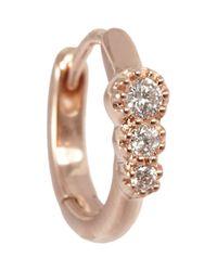 Stone | Pink Women's Creole Mini Hoop Earring | Lyst