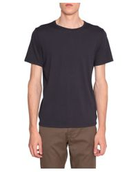 FRAME - Blue Cotton T-shirt for Men - Lyst