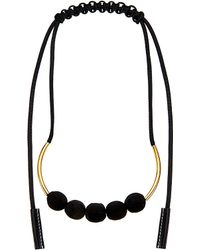 Marni | Black Adjustable Fabric Necklace, Women's, Coal | Lyst