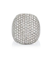Roberto Marroni - Metallic Pave-faced Ring - Lyst
