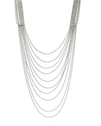 Panacea | Metallic Silvertone Nested Necklace | Lyst