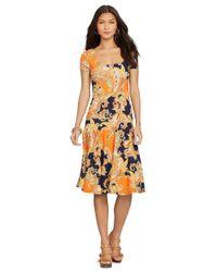 Lauren by Ralph Lauren | Multicolor Paisley Drop Waist Dress | Lyst