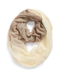 Echo - Natural Ombre Oversize Infinity Scarf - Lyst