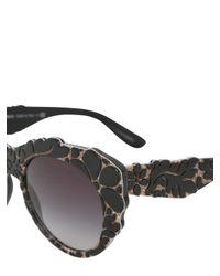 Dolce & Gabbana - Black Mama's Brocade Acetate Sunglasses - Lyst