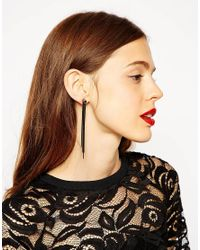 ASOS - Black Dark Tassel Earrings - Lyst