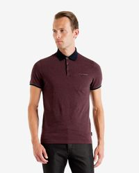 Ted Baker - Purple Cotton Polo Shirt for Men - Lyst