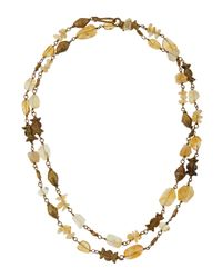 Ashley Pittman | Metallic Citrine & Bronze Station Necklace | Lyst