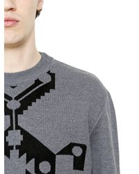 Givenchy | Gray Carpet Motif Wool Jacquard Sweater for Men | Lyst