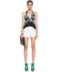 Peter Pilotto - White Grace Cotton-blend Shorts - Lyst