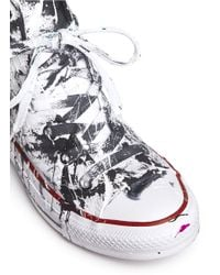 Rialto Jean Project - Black One Of A Kind Hand-painted Splash High Top Sneakers - Sz 38 - Lyst