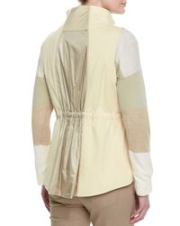 Lafayette 148 New York - Natural Dip Back Two-zip Vest - Lyst