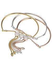 Monica Vinader - Metallic Fiji Diamond Toggle Bracelet - Lyst