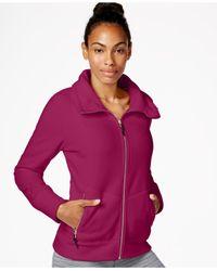 Calvin Klein - Purple Performance Polar Fleece Jacket - Lyst