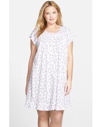 Lyst - Eileen West  lavender Fields  Short Pima Cotton Nightgown in ... 3ec08a263