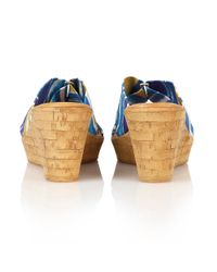 Lotus - Blue Luisa Wedge Sandals - Lyst