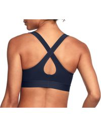 Under Armour - Blue Armour Crossback Sports Bra - Lyst