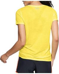 Under Armour - Yellow Threadborne Streaker Running T-shirt - Lyst