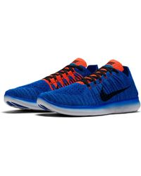 0c75f9ed41e3 Lyst - Nike Free Rn Flyknit Running Shoes in Blue for Men