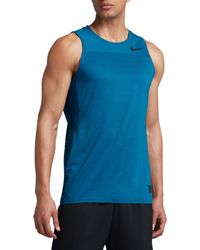 cdafb46e79386 Lyst - Nike Pro Hypercool Sleeveless Shirt in Blue for Men