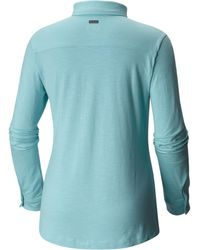 Columbia - Blue Rocky Ridge Long Sleeve Shirt - Lyst
