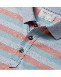 Linksoul - Blue Yarn Dyed Stripe Knit Rib Collar Polo for Men - Lyst