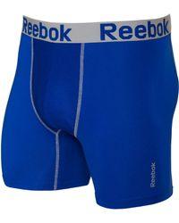 Reebok - Blue Performance 6'' Boxer Briefs for Men - Lyst