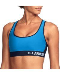 Under Armour - Blue Armour Crossback Sports Bra - Lyst
