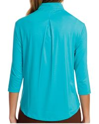 Jamie Sadock - Blue Antigua 3/4-sleeve Golf Polo - Lyst