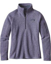 Patagonia - Purple Better Sweater 1/4-zip Fleece Jacket for Men - Lyst