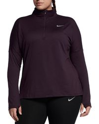 Nike - Multicolor Plus Size Dry Element 1⁄2 Zip Running Shirt - Lyst