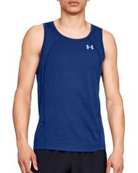 Under Armour - Blue Swyft Running Sleeveless Shirt for Men - Lyst