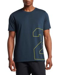 325e5820a5db47 Lyst - Nike Dri-fit Front 2 Back Graphic T-shirt in Black for Men