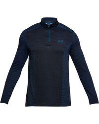 Under Armour - Blue Threadborne Seamless 1/4 Zip Long Sleeve Shirt for Men - Lyst