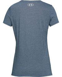 Under Armour - Blue Threadborne Streaker Running T-shirt - Lyst