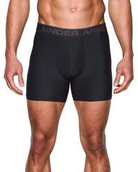"""Under Armour - Black Original 6"""" Boxerjock Boxer Briefs for Men - Lyst"""