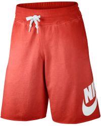 Nike - Red Alumni Solstice Shorts for Men - Lyst