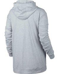 5bcadb664bcb Lyst - Nike Sportswear Gym Classic Hoodie in Gray