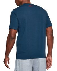 Under Armour Blue Support The Troops Graphic T-shirt for men