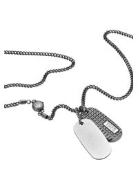 DIESEL | Metallic Necklace Dx0858 for Men | Lyst