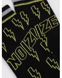 DIESEL - Black Socks With Seasonal Print for Men - Lyst