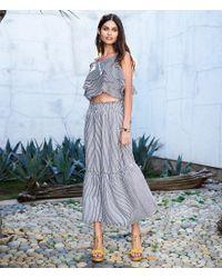Gianni Bini - Blue Jenna Smocked Stripe Coordinating Midi Skirt - Lyst